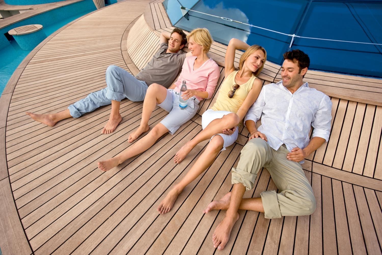 AIDA Gäste an Bord