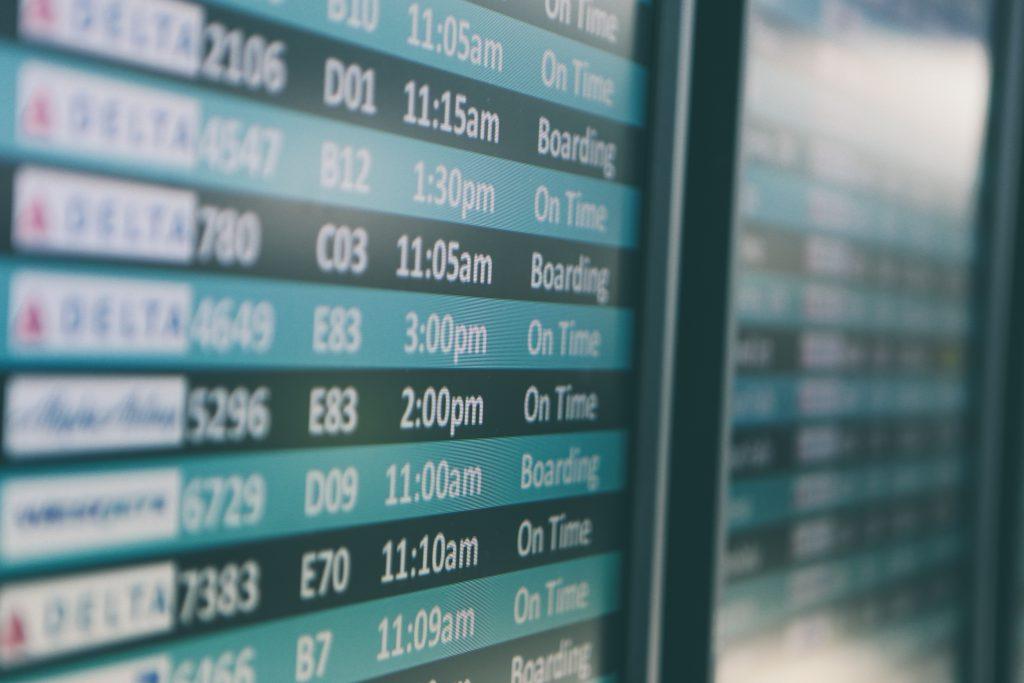 Flughafen Abreisetag