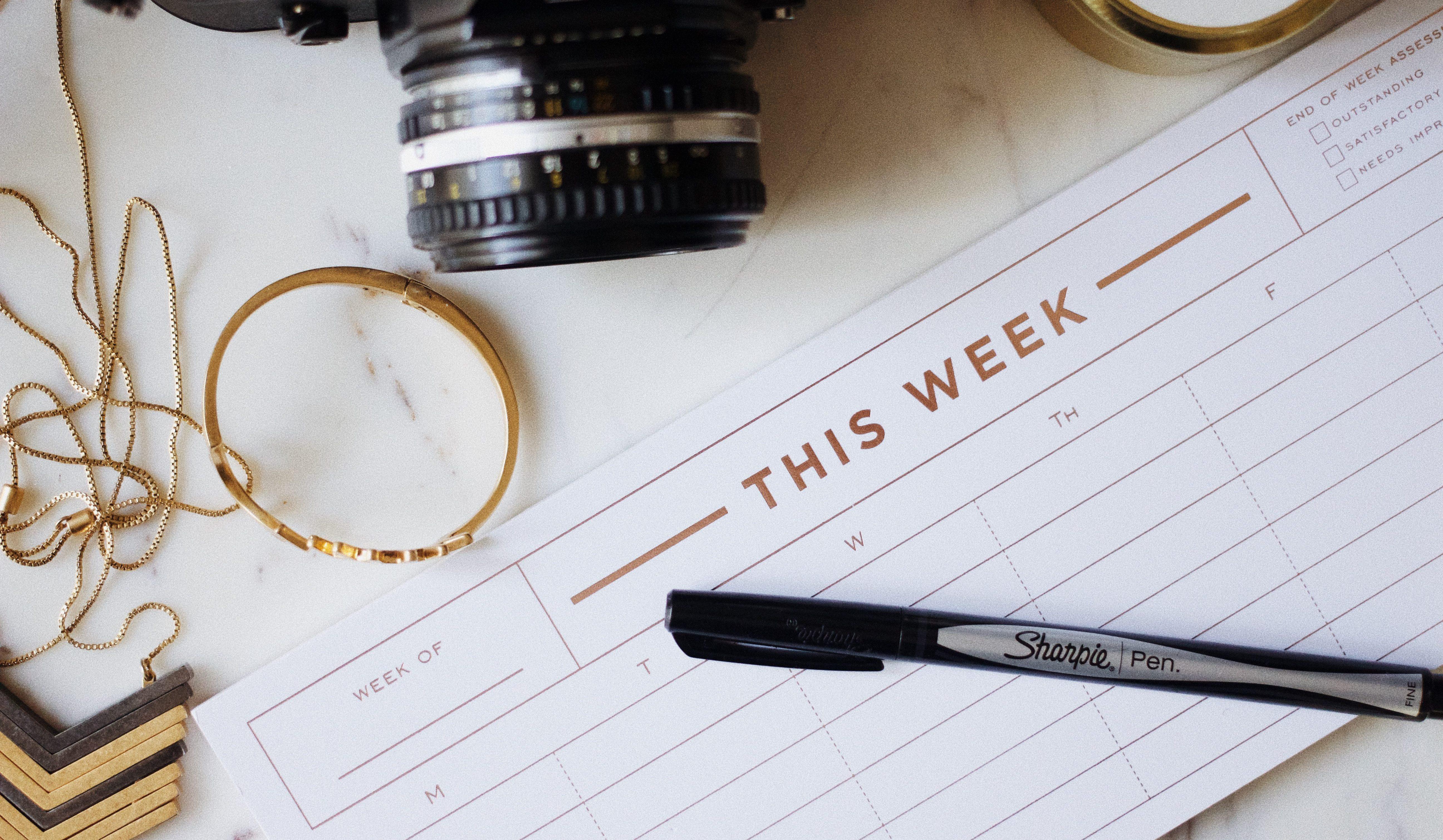 Ideale Zeit für Kreuzfahrten - Wochenkalender