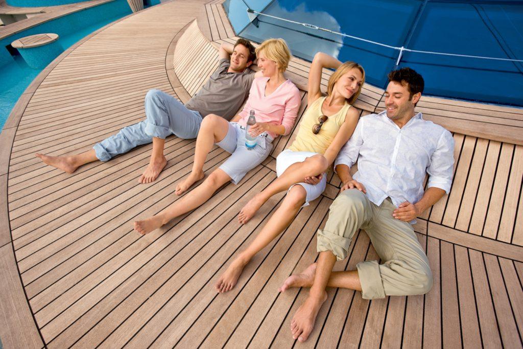 AIDA Familie an Bord