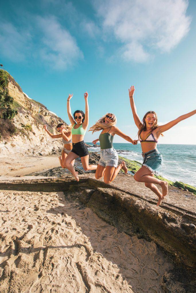 Jugendliche im Urlaub