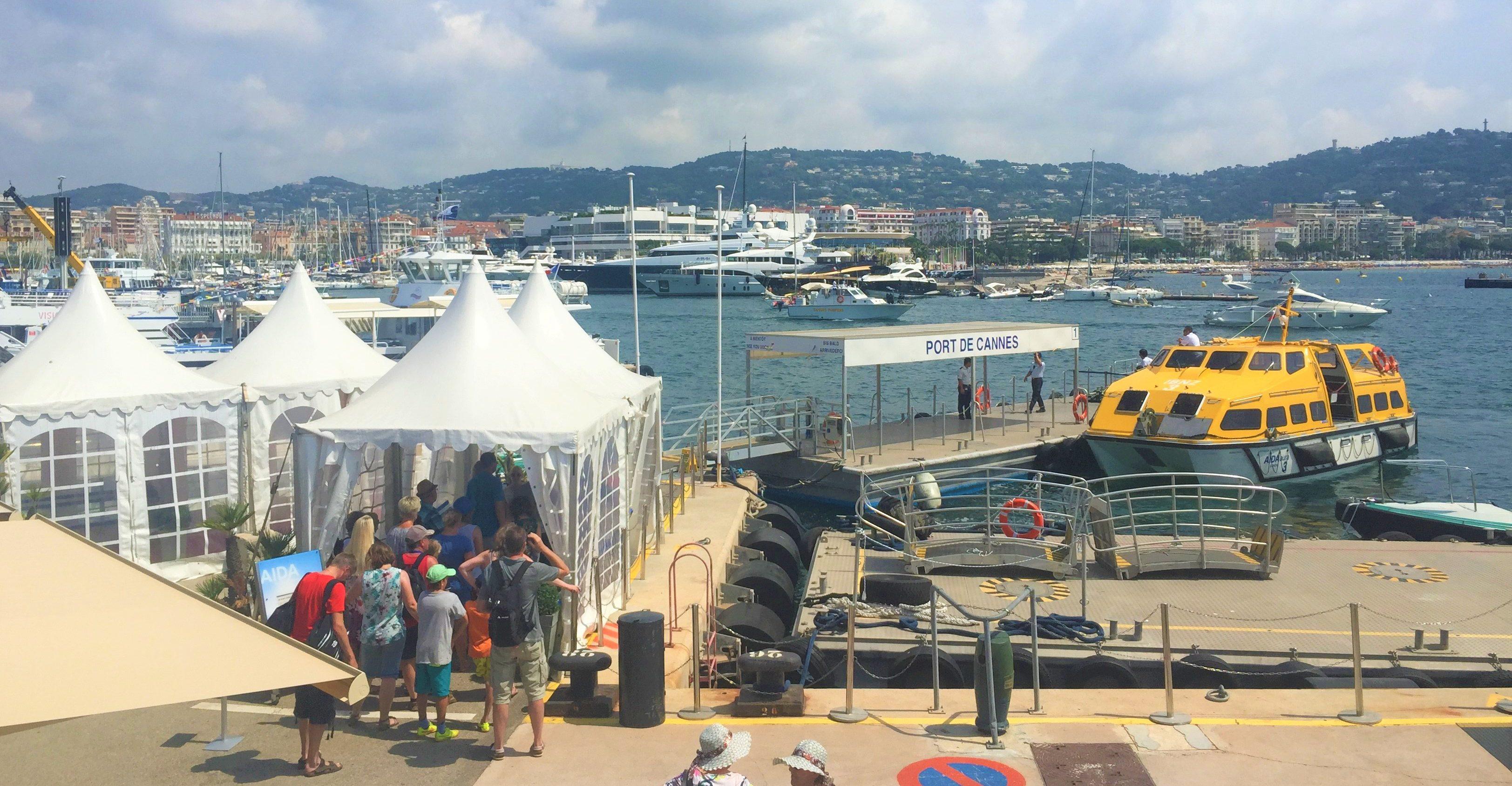 Tenderboot in Cannes