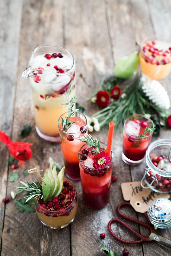 Getränke und Speisen zu Weihnachten