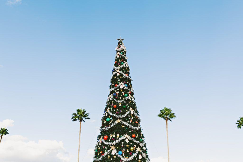 Weihnachtsbaum blauer Himmel