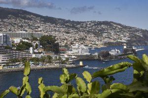 Blick über den Hafen von Funchal